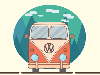 Holiday Camper Van camper illustration car van vector artwork vector illustration