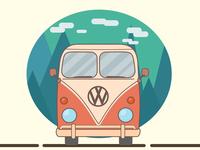 Holiday Camper Van camper illustration car van vector artwork vector illustration