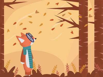 Autumn is Coming affinity vector affinity designer fox vector illustration autumn