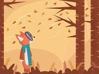 Autumn is Coming affinity vector affinity designer fox vector illustration autumn