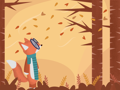 Autumn is Coming (fixed drawing) affinity art affinity designer brown orange vector autumn artwork autumn illustration