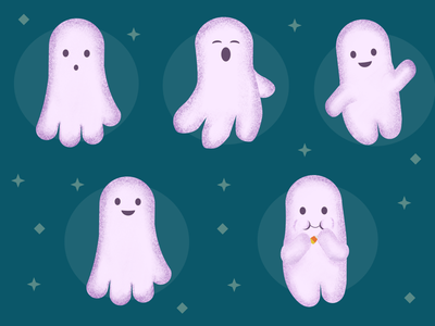 Cute Halloween Ghosts affinity designer cute ghosts halloween ghosts halloween illustration halloween art halloween vector art