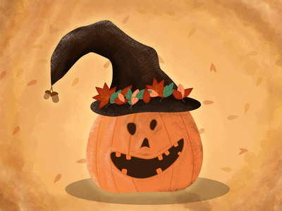 Crazy Little Pumpkin halloween illustration affinity designer vector art illustration pumpkin illustration