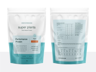 Packaging Design for Super Plants label label design logotype nutrition vitamin supplement plant based branding logo minimal vegan powder protein performance packaging design packaging