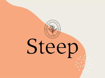 Branding for Steep Artisanal Tea label design packaging design typography stamp food and beverage packaging drink tea brand identity emblem logo branding