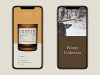 UI Design for Odeur Candles