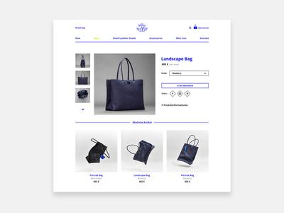 Product Detail Page - Fashion - E-Commerce - Online Shop