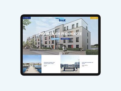 Real estate Architecture Website Tablet Version immobilien building realestate company homepage website landingpage realstate web design ui design