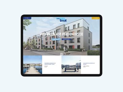 Real estate Architecture Website Tablet Version