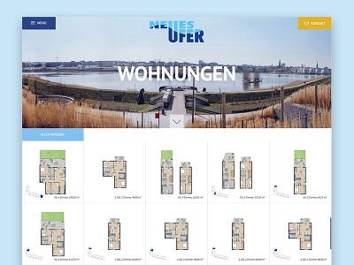 Real estate Architecture Website immobilien homepage realestate company design responsive website web design ui landingpage