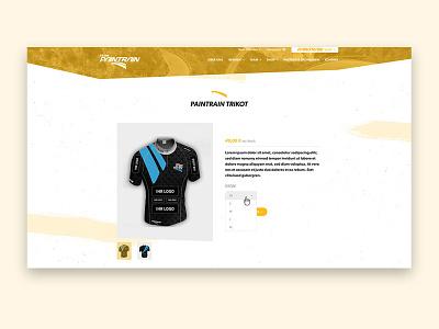 Product Detail - Sport - Landingpage company homepage website responsive sports web design ui landingpage product design