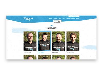 Team Page - Sport - Landingpage homepage company responsive website ui web design design landingpage team page