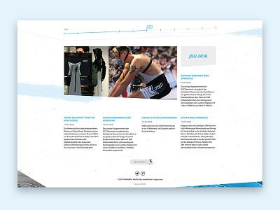 Blog - News - Sport landingpage web design sport company responsive website ui design news