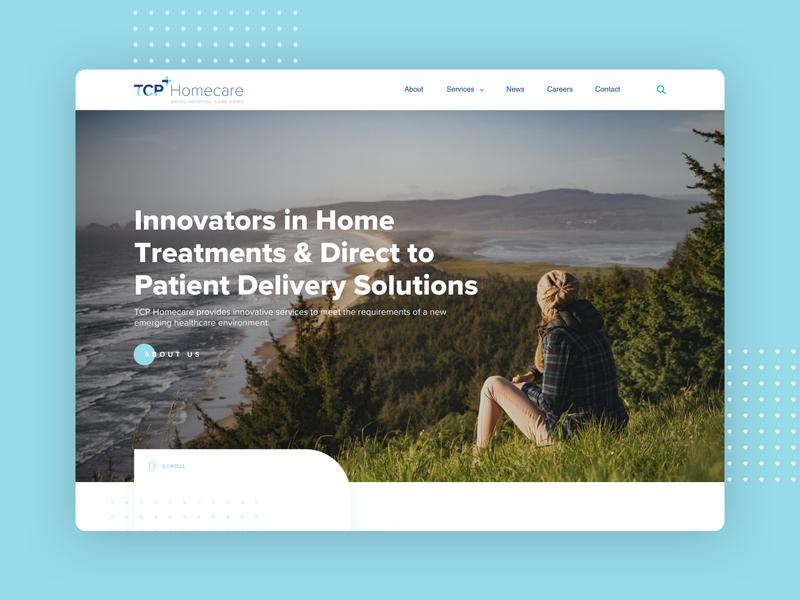 TCP Homecare dublin ireland branding design website ui design homepage web design ux ui
