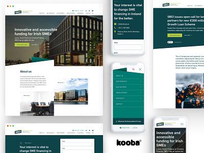SBCI - Webiste ui ux ireland website design ux design ui design webdesign corporate finance sbci
