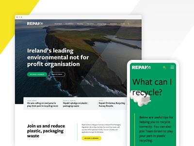 Repak - Website responsive design mobile dublin ireland green design environment recycling website ux design ui design uiux
