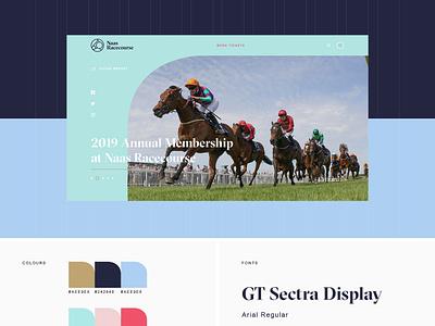Naas Racecourse Website design ui website horse racing