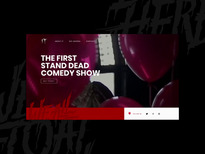 🎈IT Stand Dead Show - Mocktober 2019 ui design concep ui concept design horror movie pennywise it it movie cinema mockup 2019 mocktober website ui design