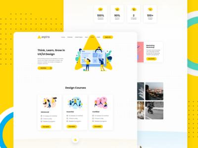 Web Design for Aspira (Concept)