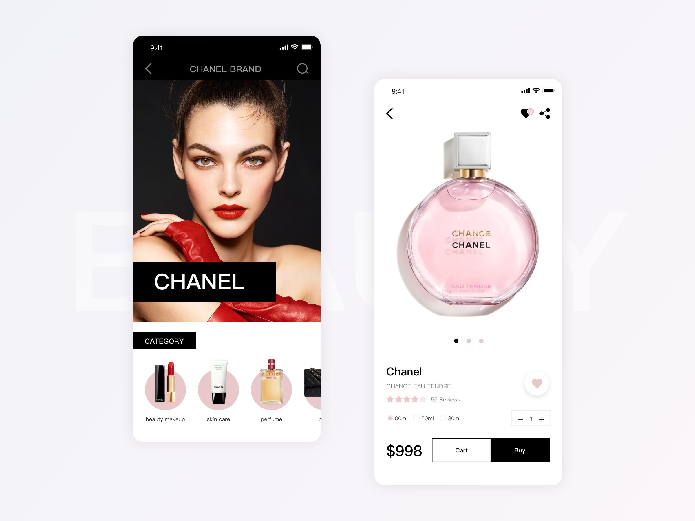 Beauty makeup app by Yu xiaoyu | Design Inspiration