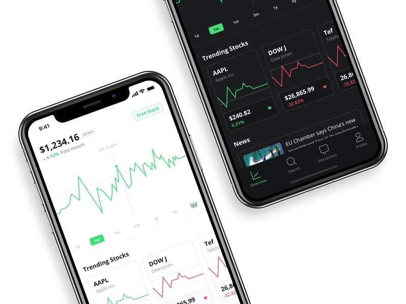 Midas - Light and Dark Mode app design ios design ios trade trading app trading platform trading