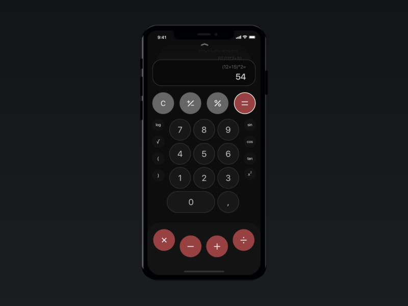 Calculator Concept calculator app calculator ui calculator design ios app design concept design