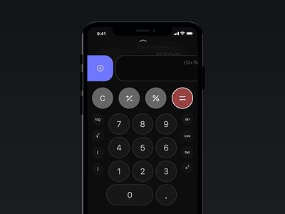 Calculator Concept calculator app calculator ui calculator design ios app design concept design