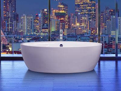 Dip Acryl Skyline wellness dip freestanding design bath aquamass aquadesign