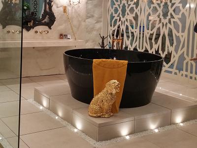 Cup of Tea Black freestanding design bath aquamass aquadesign