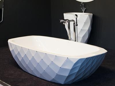 Ab.Dia.700.02.Bb.Bb Aqua Diamond crystal strass swarovski diamond freestanding design bath aquamass aquadesign