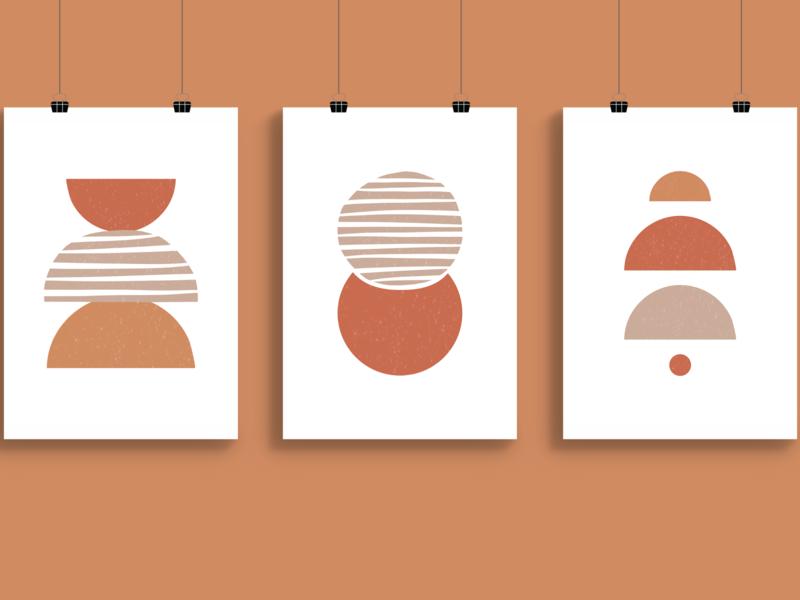 Boho Print Package bohemian print design prints nebraska vector minimal illustrator illustration design boho