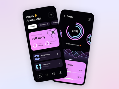 Fitness Tracking App mobile ios dashboard sport fitness