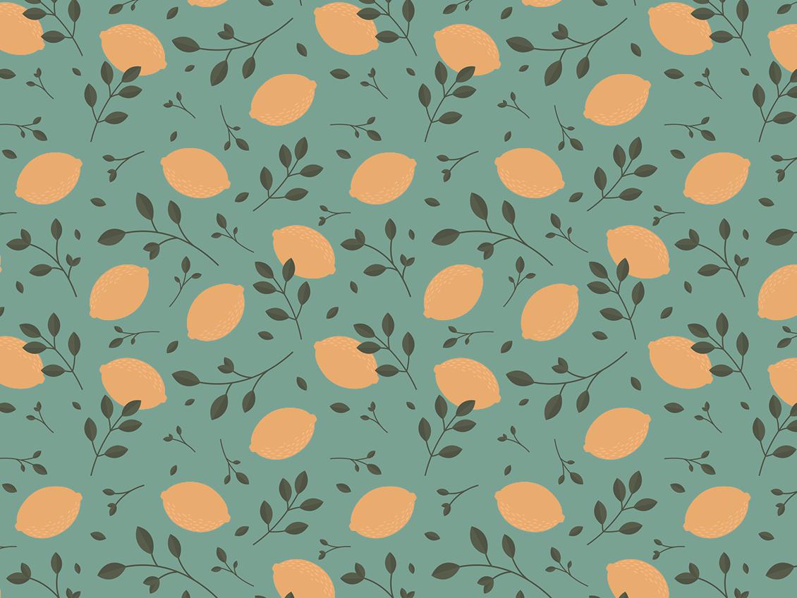 Lemons design background pattern fabric pattern fruit lemon fabric summer art illustration