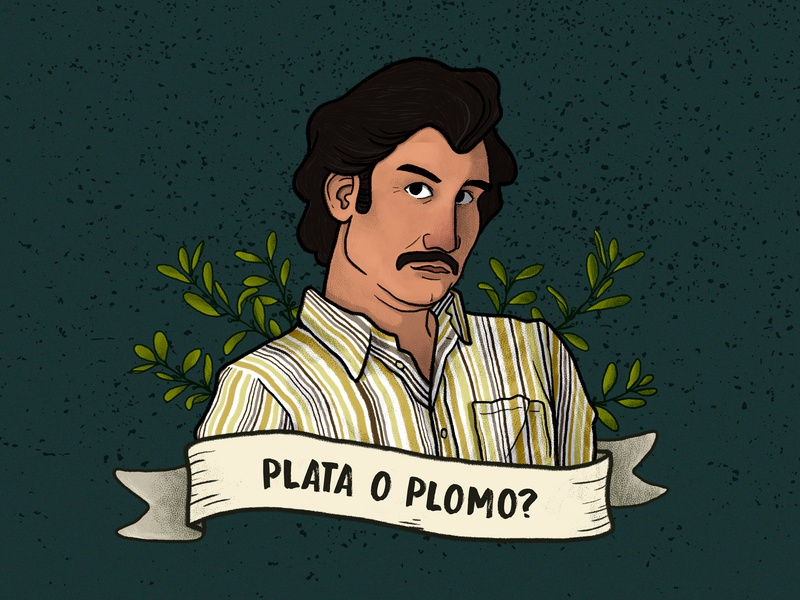 Pablo Escobar By Luana Tumiatti On Dribbble