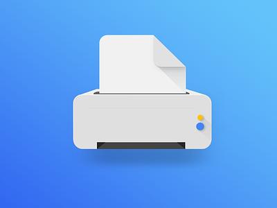 Printer Illustration google design material printer minimal simple illustration