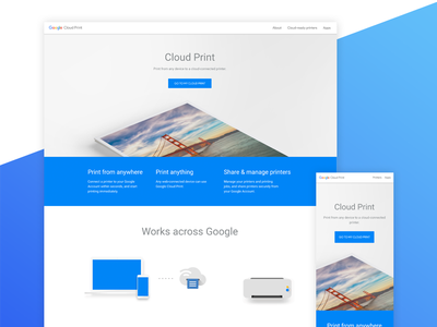 Google Cloud Print google print cloud mobile web flat simple