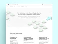 Concept for Google Research Redesign