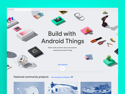 Android Things Site maker playful simple creativedirection website android