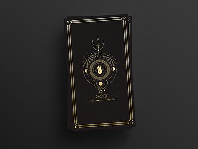 Personal Project - Sneak Peek magic mystical simple tarot line art gold black cards
