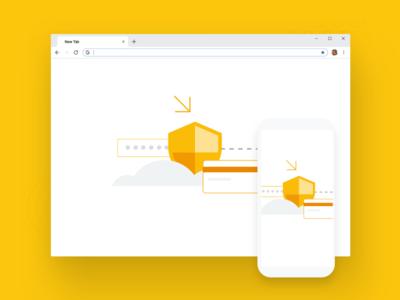 Chrome Browser Security Illustration