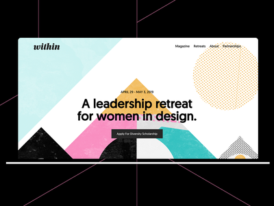 Within Women's retreat artwork design geometric flat simple illustration branding design