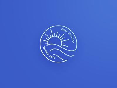 Within Baja Mexico Icon mexico geometric illustration retreat simple icon line icon