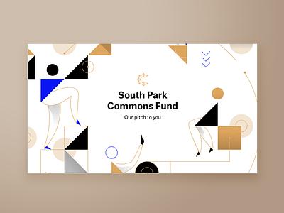 South Park Commons Pitch Deck Title Slide simple abstract visual design keynote presentation design presentation