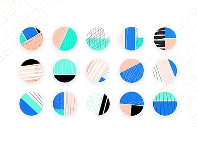 Pattern Fun circles geometric illustration hand drawn pattern