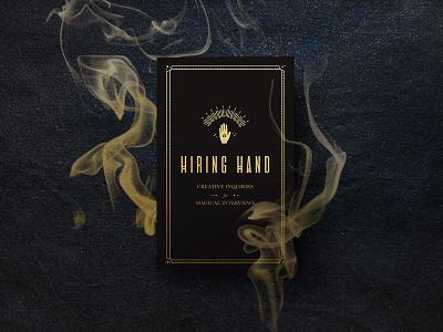Hiring Hand Deck effects photo manipulation photography photoshoot visual design digitalart lineart gold print design print