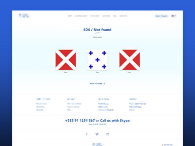 404 in maritime signal flags, sailor!