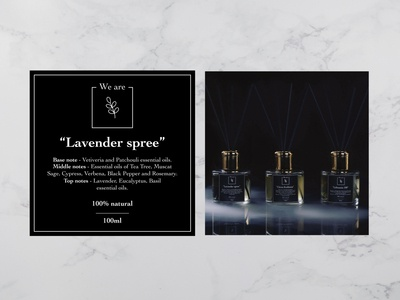 Home perfume label design
