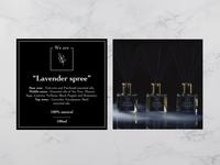 Home perfume label design