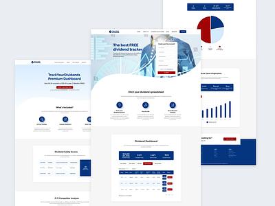 Track Your Dividends project web design diagram logodesign logo trackyourdividends dividends website design webdesign website figma design figmadesign figma design uiux ui