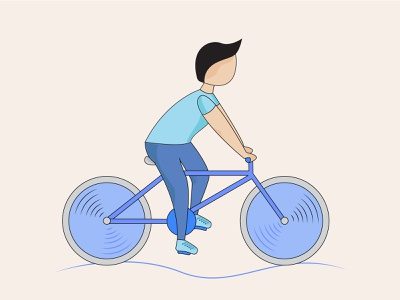 Bicycle animation vector graphic adobe illustrator artwork art computer graphics illustration design travel healthy sport riding bicycle